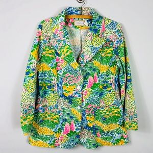 Vintage Floral Blazer Colorful Cotton Spring 18